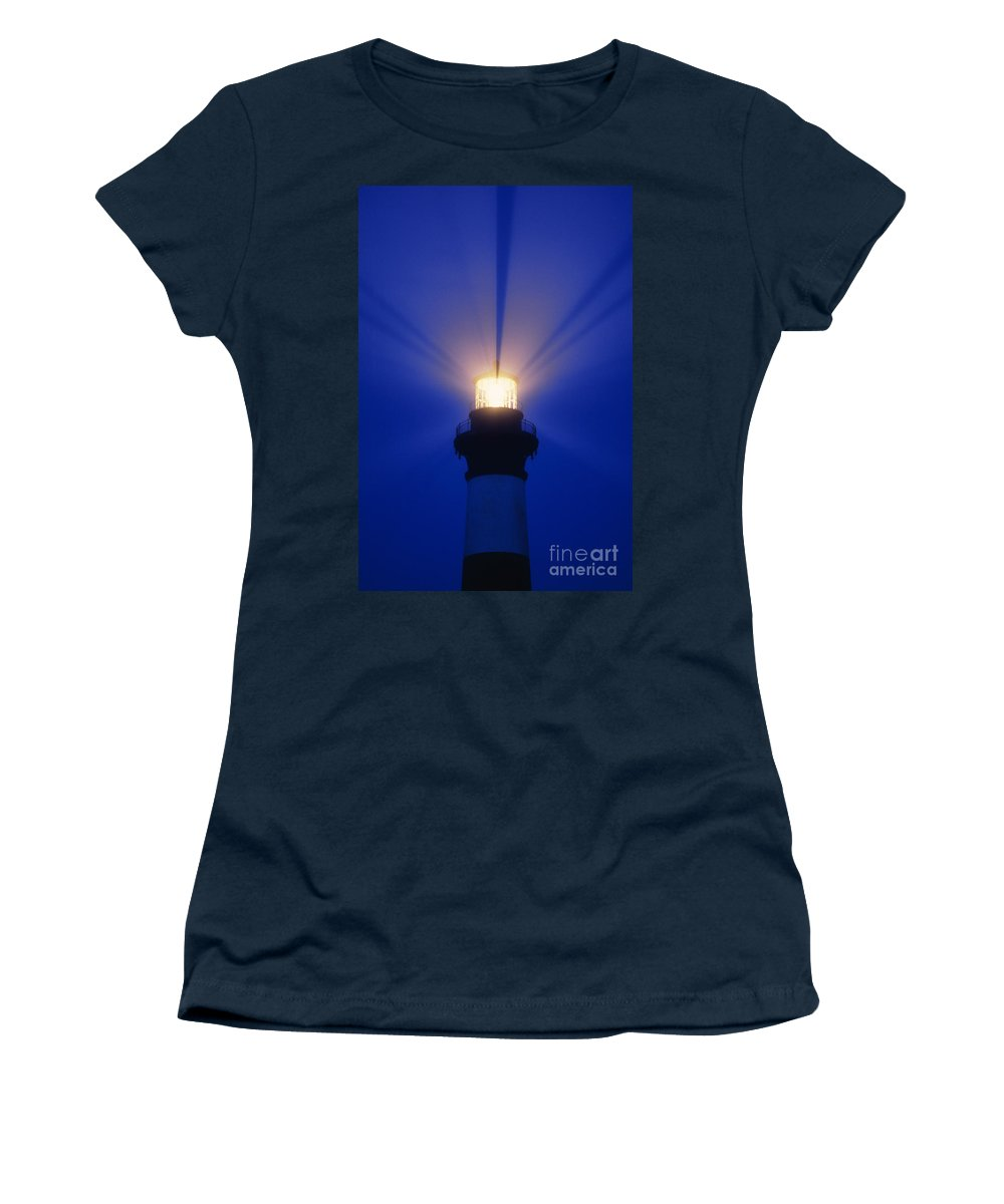 Bodie Women's T-Shirt featuring the photograph Bodie Island Light - Fs000226 by Daniel Dempster
