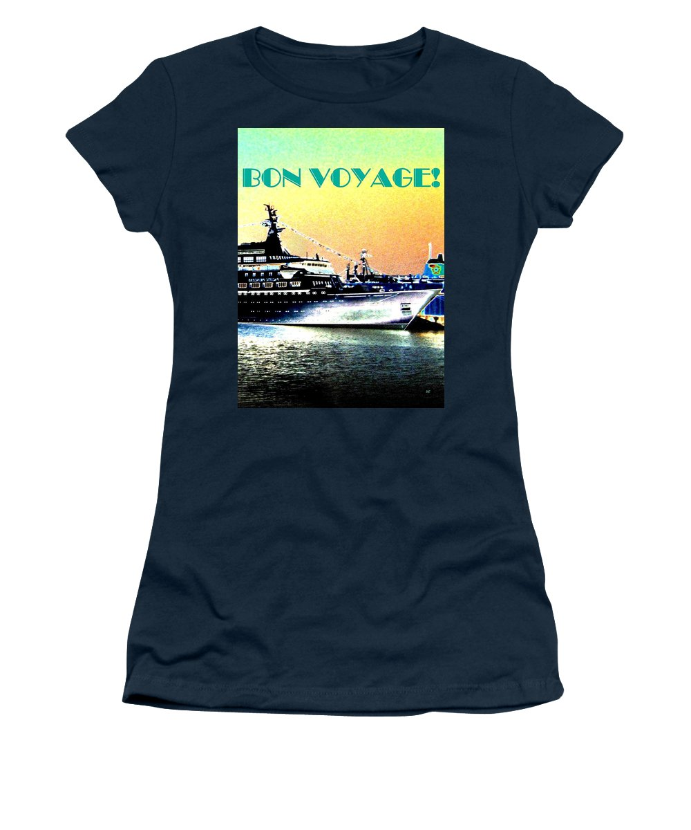Bon Voyage Women's T-Shirt (Athletic Fit) featuring the digital art Bon Voyage by Will Borden