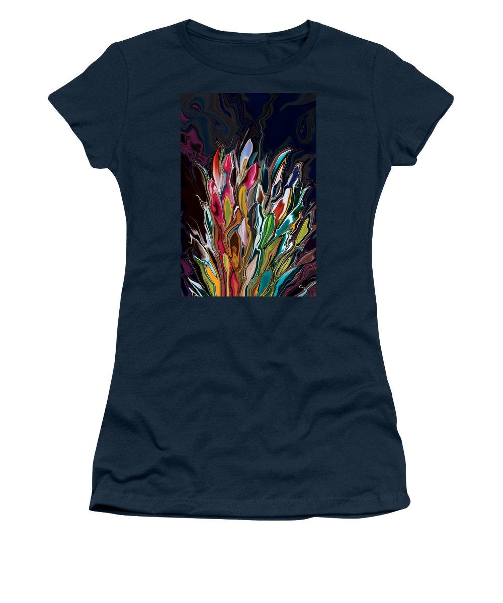 Brown Women's T-Shirt featuring the digital art Botanica 3 by Rabi Khan