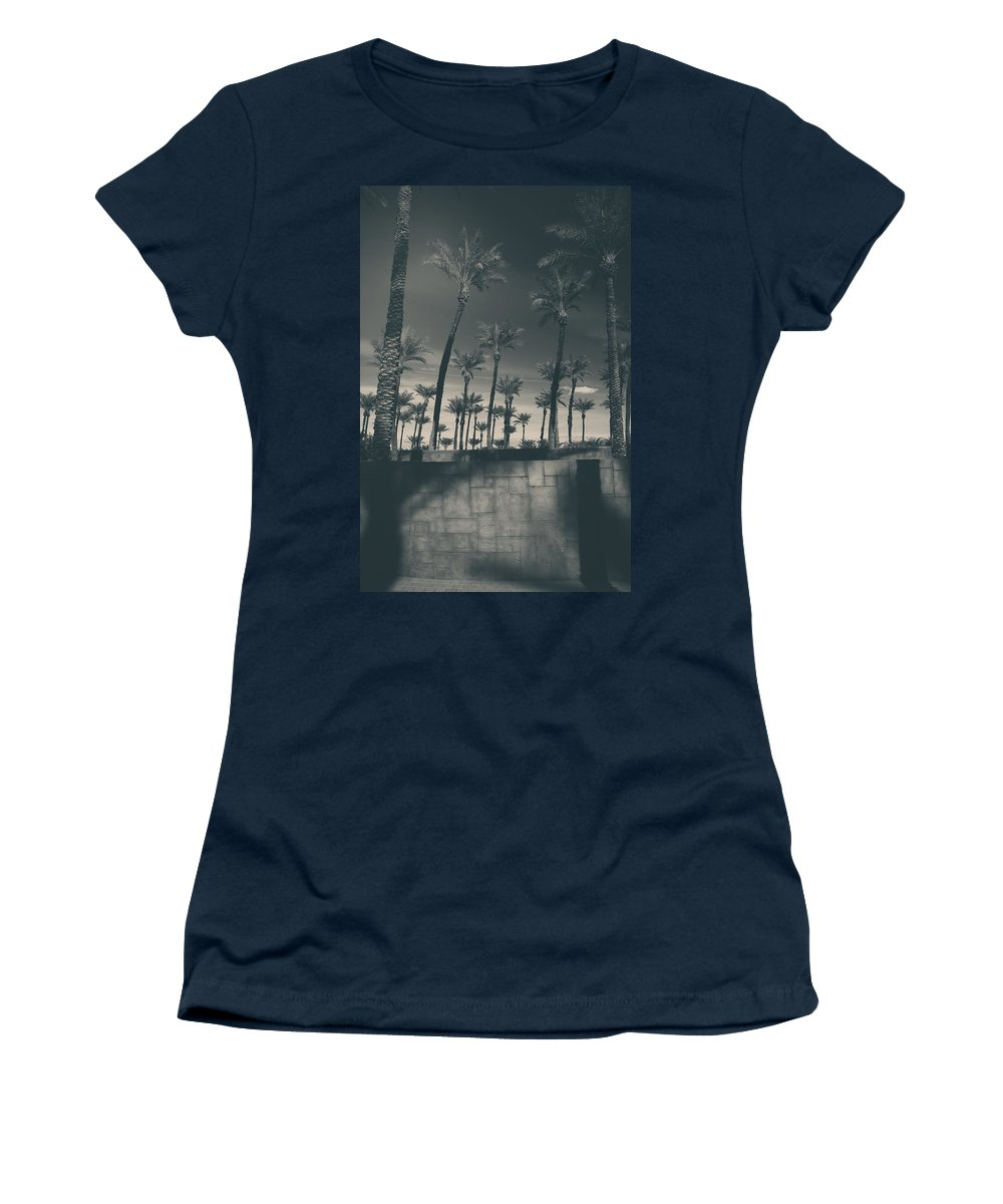 Palm Trees Women's T-Shirt featuring the photograph Breaking Down Walls by Laurie Search