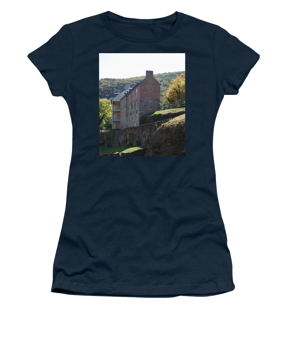Rock Women's T-Shirt featuring the photograph Built On A Rock by Rebecca Smith