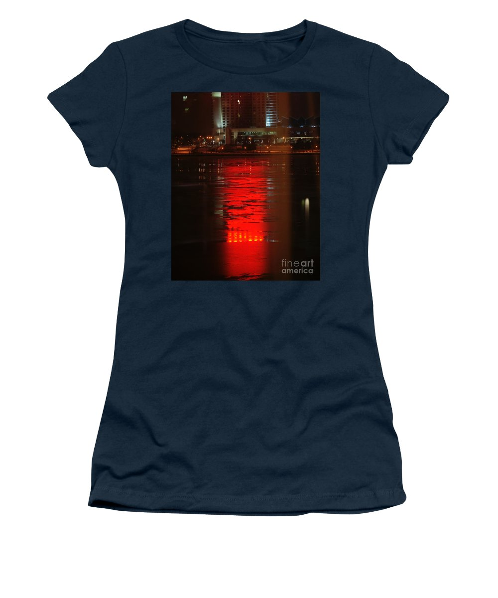 Winter Women's T-Shirt (Athletic Fit) featuring the photograph Caesars Reflection by Linda Shafer