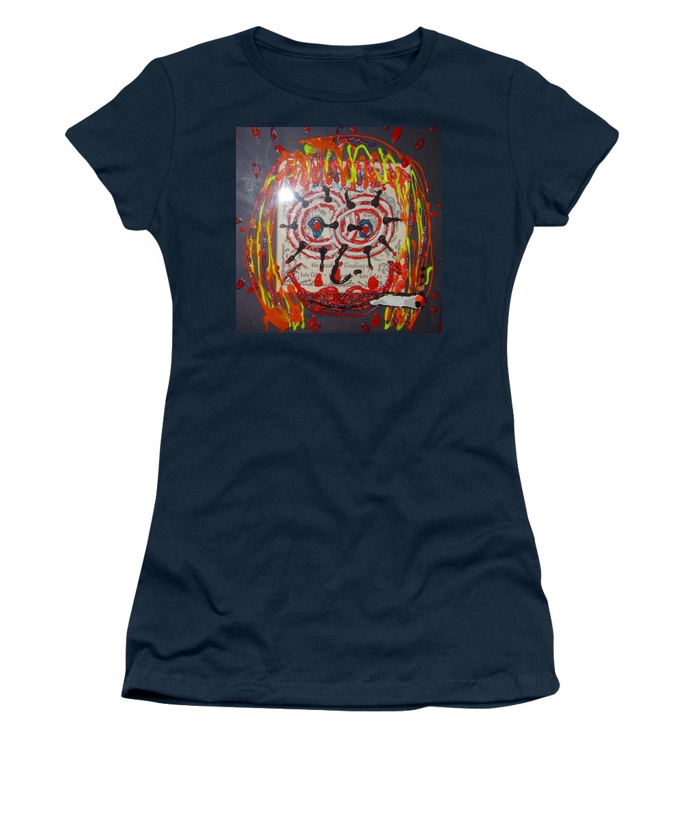 Stress Women's T-Shirt featuring the painting Camille by Lisa Piper