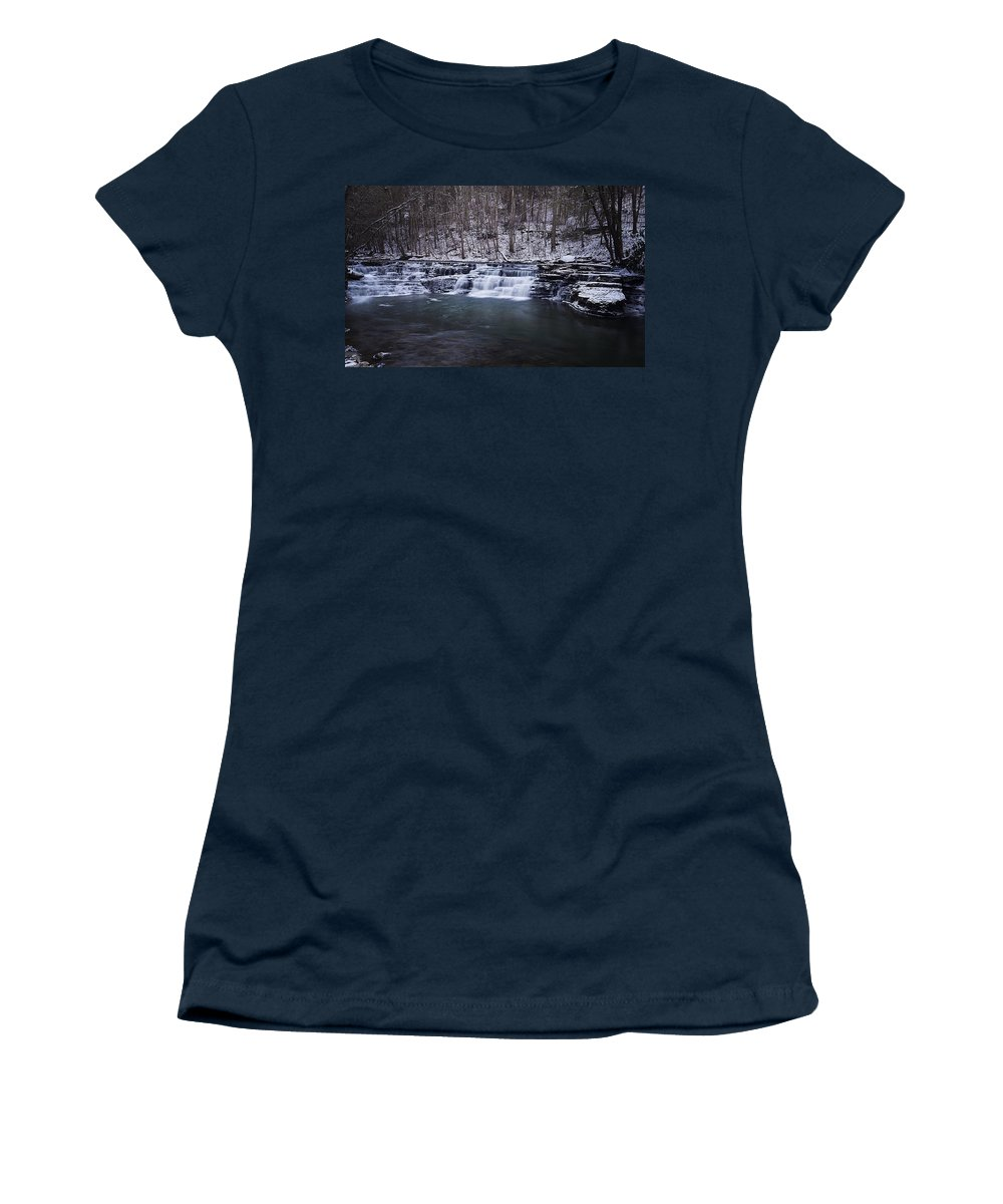 Waterfall Women's T-Shirt featuring the photograph Campbell Falls by Melissa Petrey