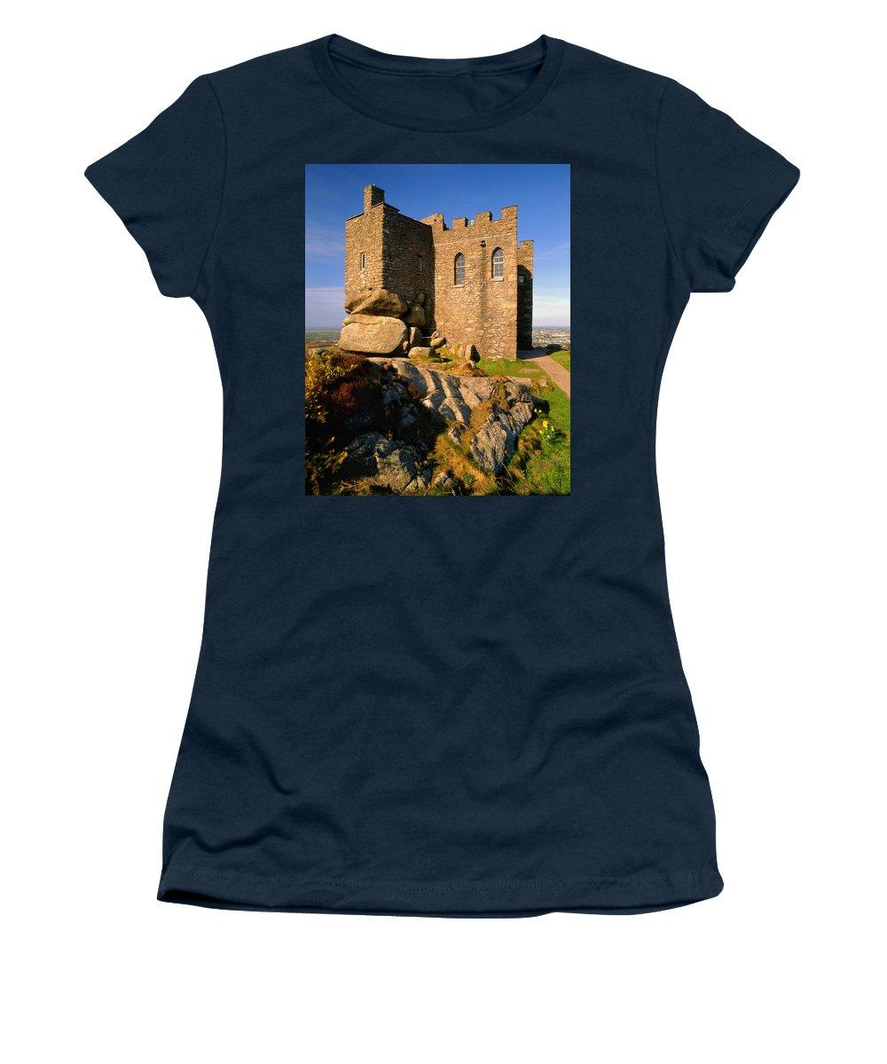 Cornwall Women's T-Shirt featuring the photograph Carn Brea Castle by Darren Galpin