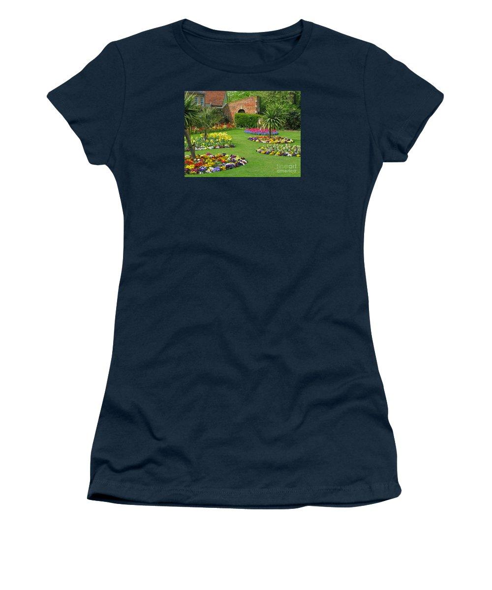 Garden Women's T-Shirt (Athletic Fit) featuring the photograph Castle Park Gardens by Ann Horn