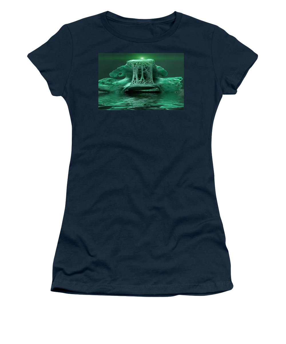 Abstract Women's T-Shirt featuring the photograph Catacombs 2 by WB Johnston