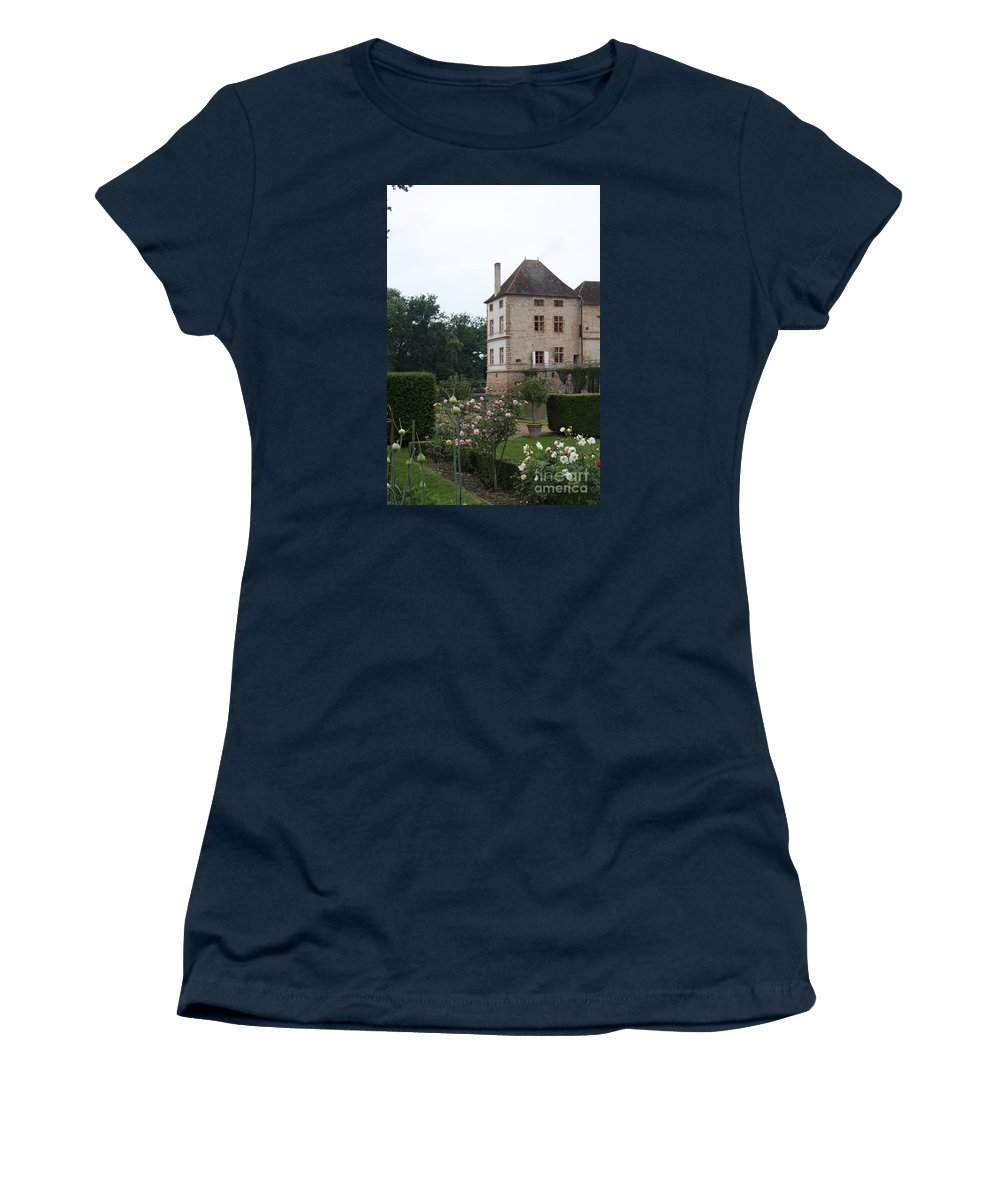 Palace Women's T-Shirt (Athletic Fit) featuring the photograph Chateau De Cormatin - Burgundy by Christiane Schulze Art And Photography