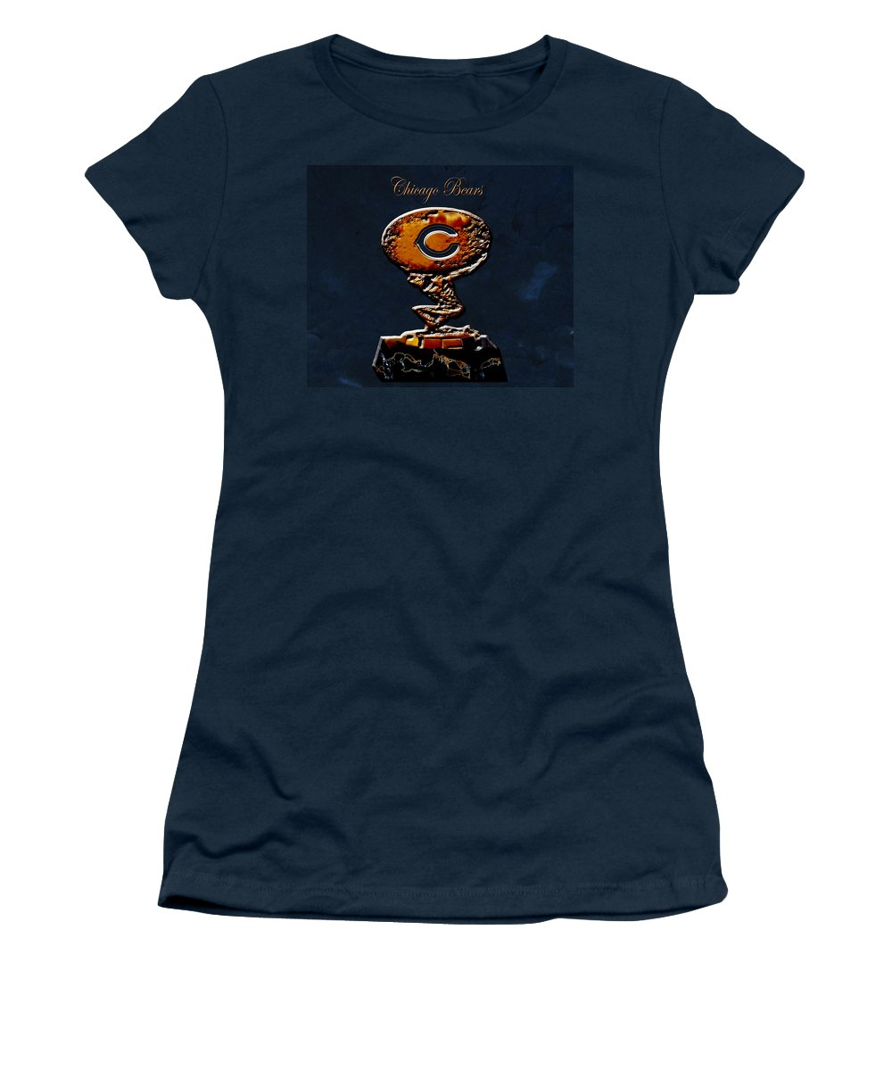 Chicago Bears Women's T-Shirt featuring the digital art Chicago Bears by Brian Reaves