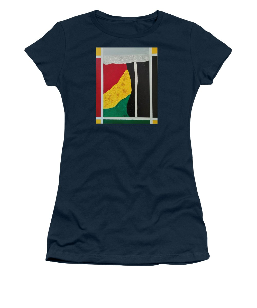 Line Women's T-Shirt featuring the painting Colors by Earnestine Clay