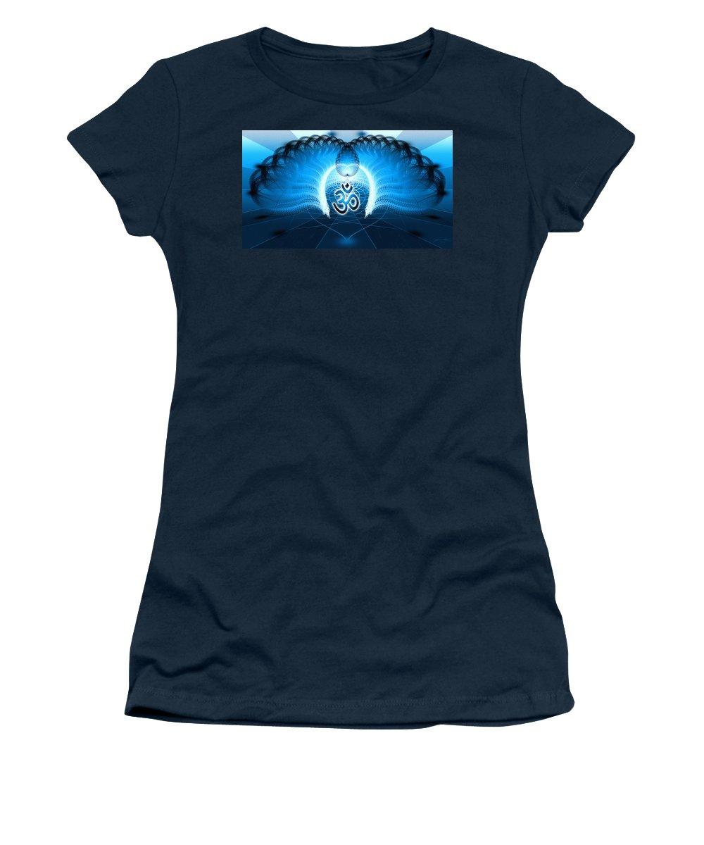 Cosmic Spiral Ascension Women's T-Shirt featuring the digital art Cosmic Spiral Ascension 30 by Derek Gedney