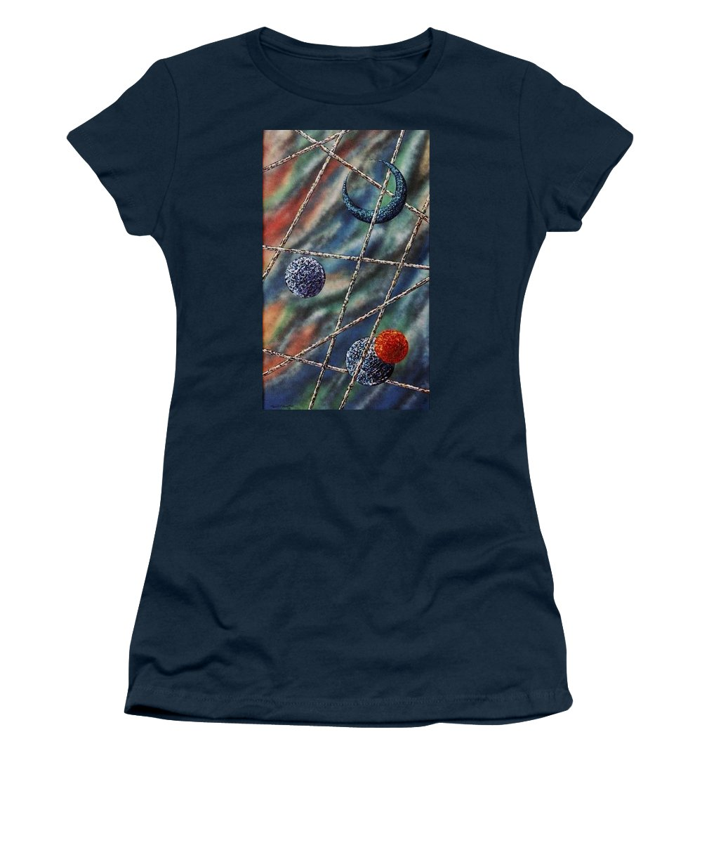 Abstract Women's T-Shirt featuring the painting Crescent by Micah Guenther