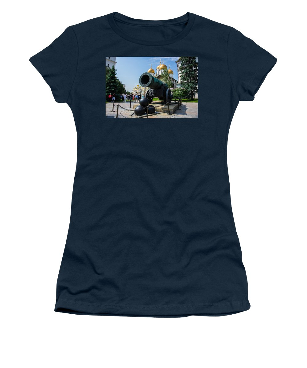 Annunciation Women's T-Shirt featuring the photograph Czar Cannon Of Moscow Kremlin - Featured 3 by Alexander Senin