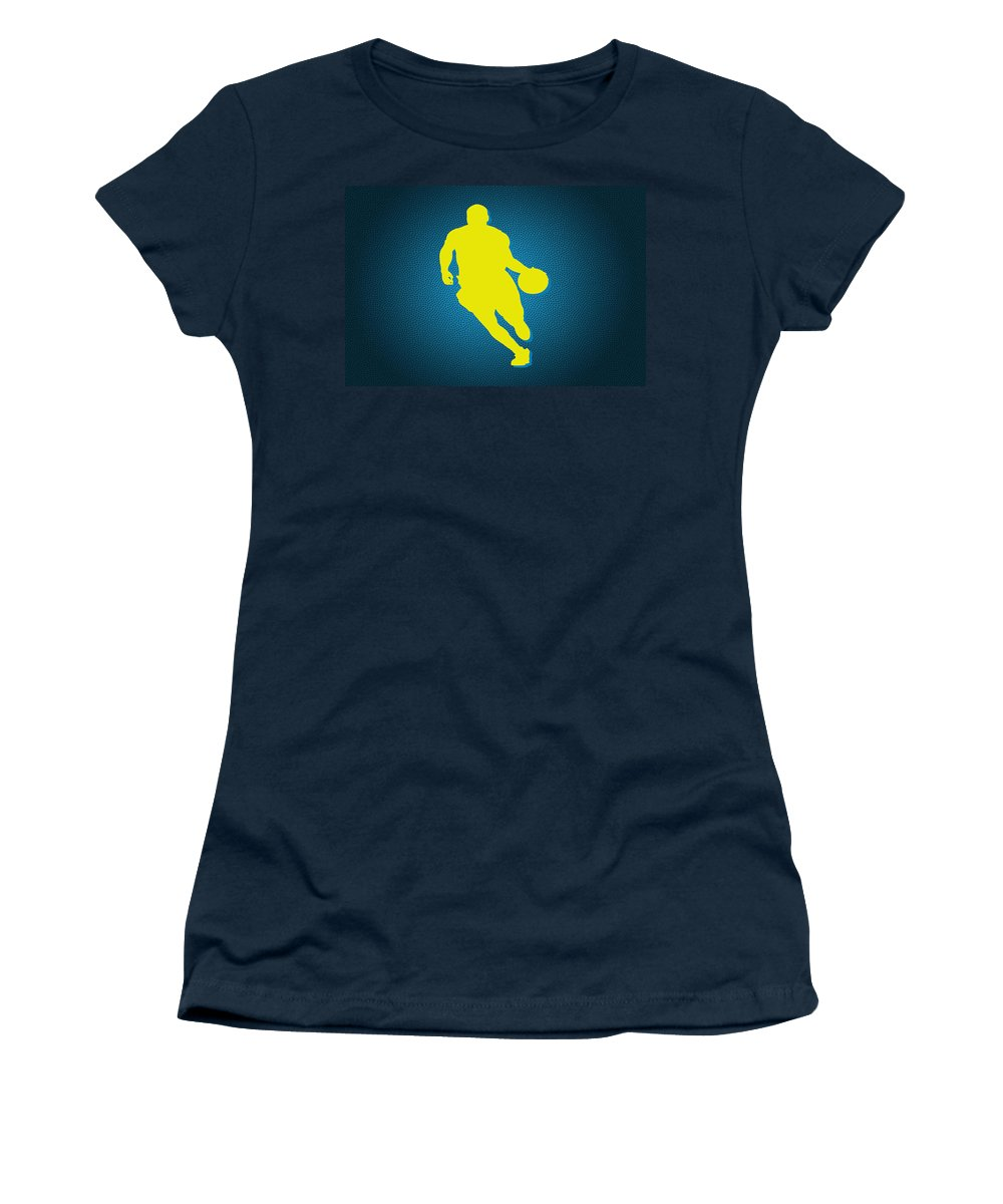 Nuggets Women's T-Shirt featuring the photograph Denver Nuggets Ty Lawson by Joe Hamilton