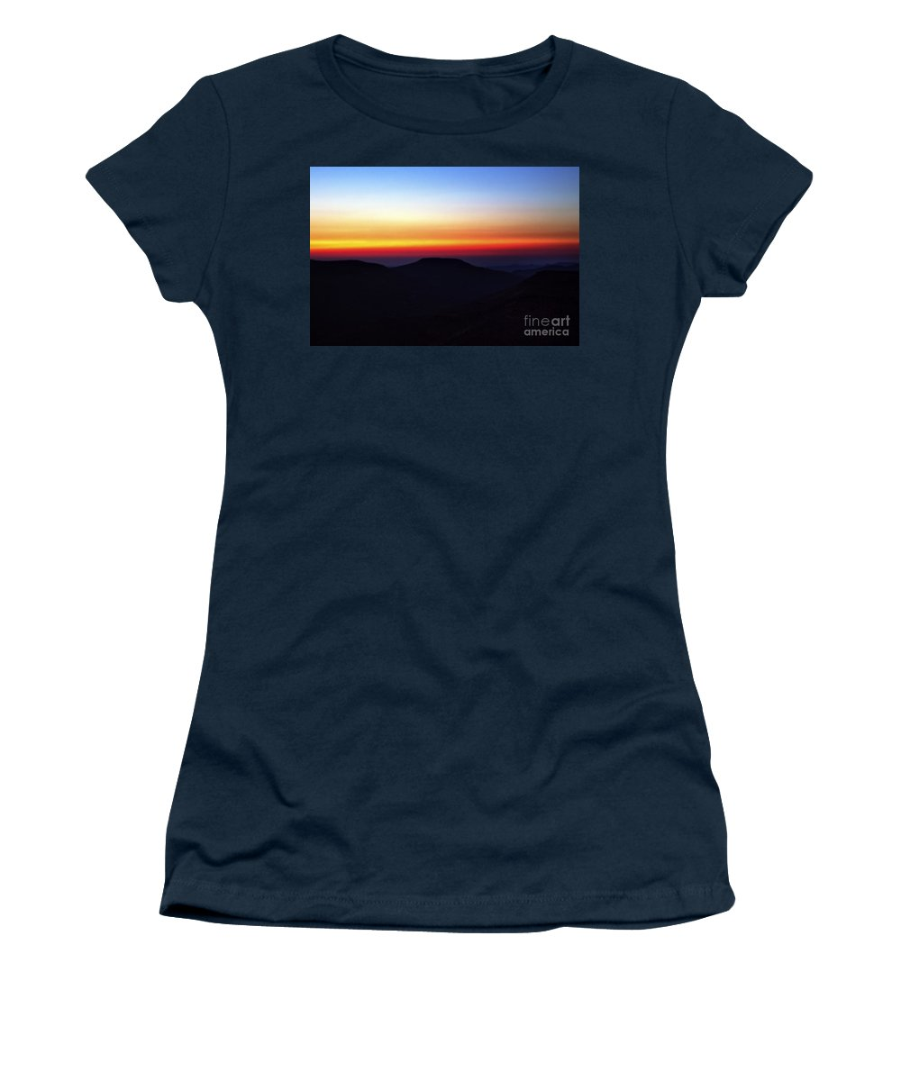 Evening Women's T-Shirt featuring the photograph Desert Sunset by Nir Ben-Yosef
