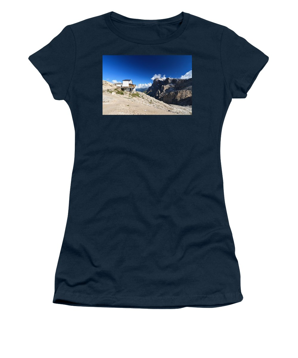 Aerial Women's T-Shirt featuring the photograph Dolomites -pale San Martino Group by Antonio Scarpi