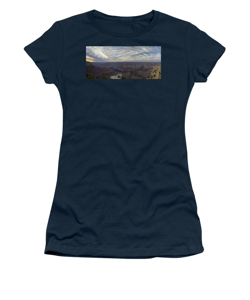 Grand Canyon Women's T-Shirt featuring the photograph Dramatic Grand Canyon Sunset by Brian Kamprath