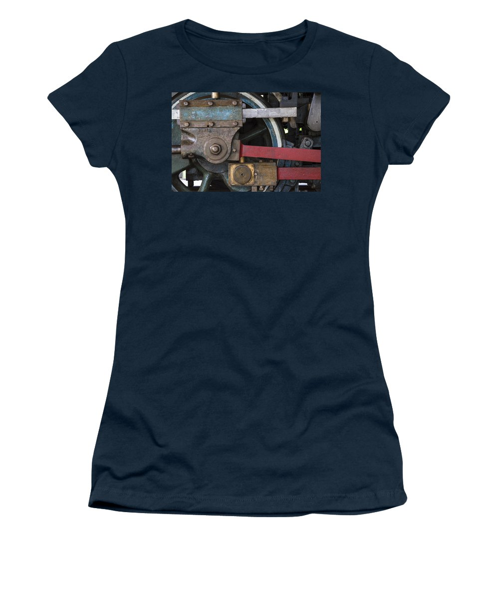 Railroad Women's T-Shirt featuring the photograph Drivin' Wheel by David Stone