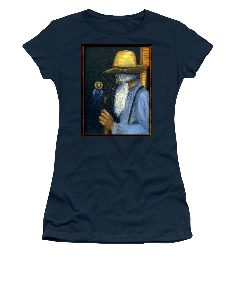 Men Women's T-Shirt (Athletic Fit) featuring the painting Eli Remembers by Gail Kirtz