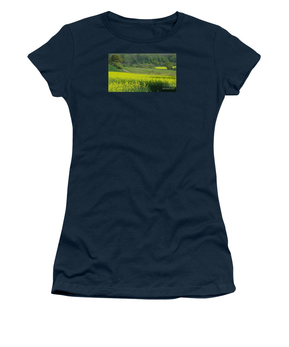 England Women's T-Shirt (Athletic Fit) featuring the photograph English Countryside by Ann Horn