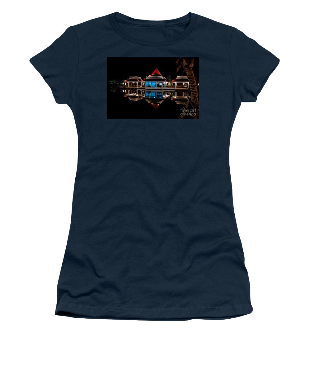 Hdr Women's T-Shirt featuring the photograph Evening Reflections by Adrian Evans