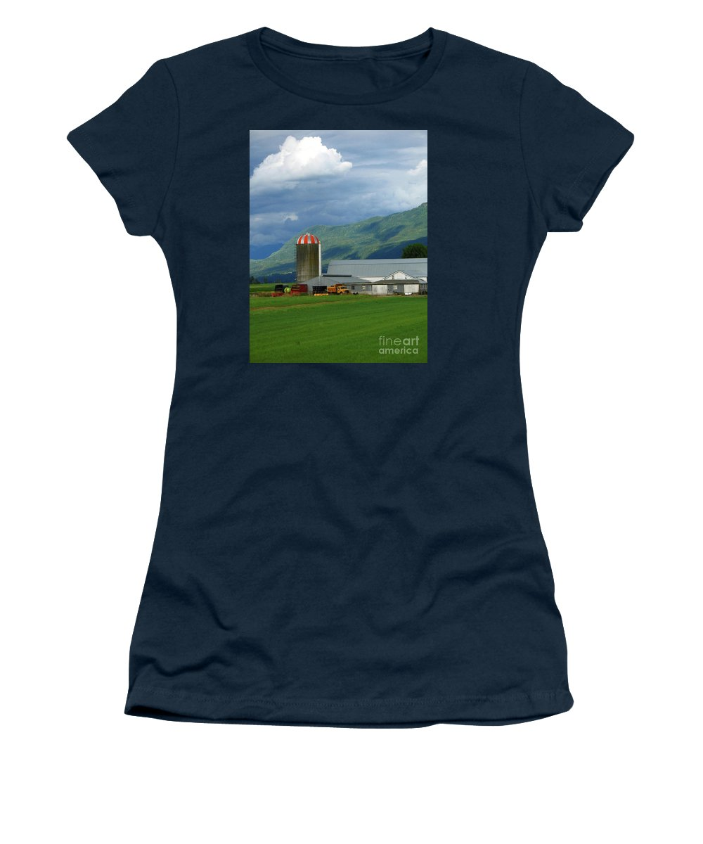 Farm Women's T-Shirt (Athletic Fit) featuring the photograph Farm In The Valley by Ann Horn