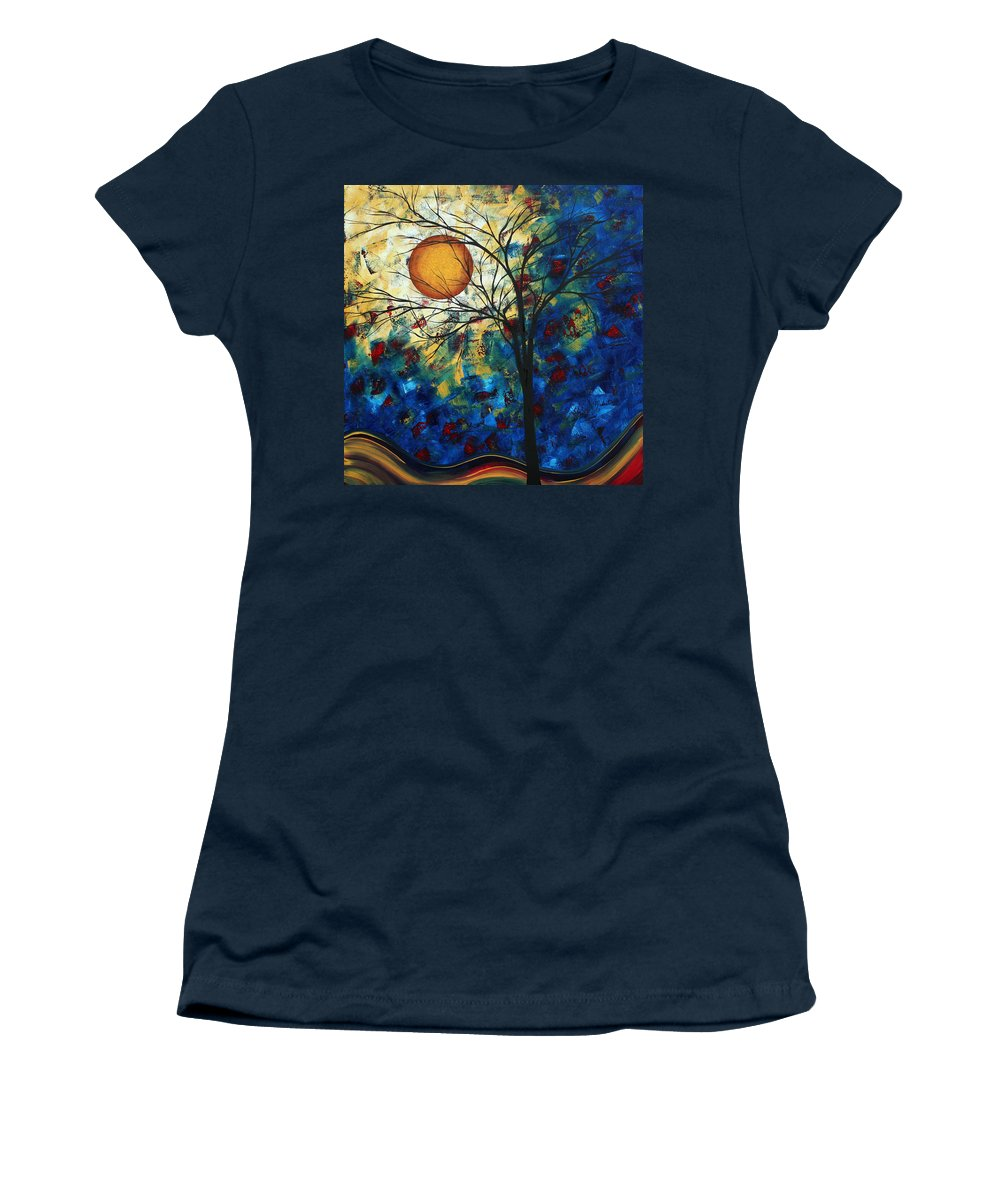 Decorative Women's T-Shirt featuring the painting Feel The Sensation By Madart by Megan Duncanson