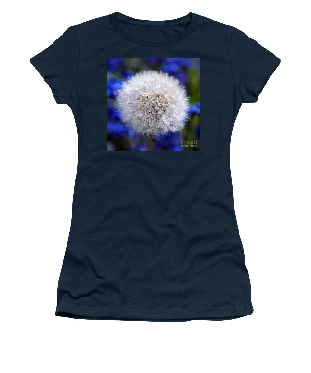 Dandelion Women's T-Shirt (Athletic Fit) featuring the photograph Fluffy by Sharon Talson