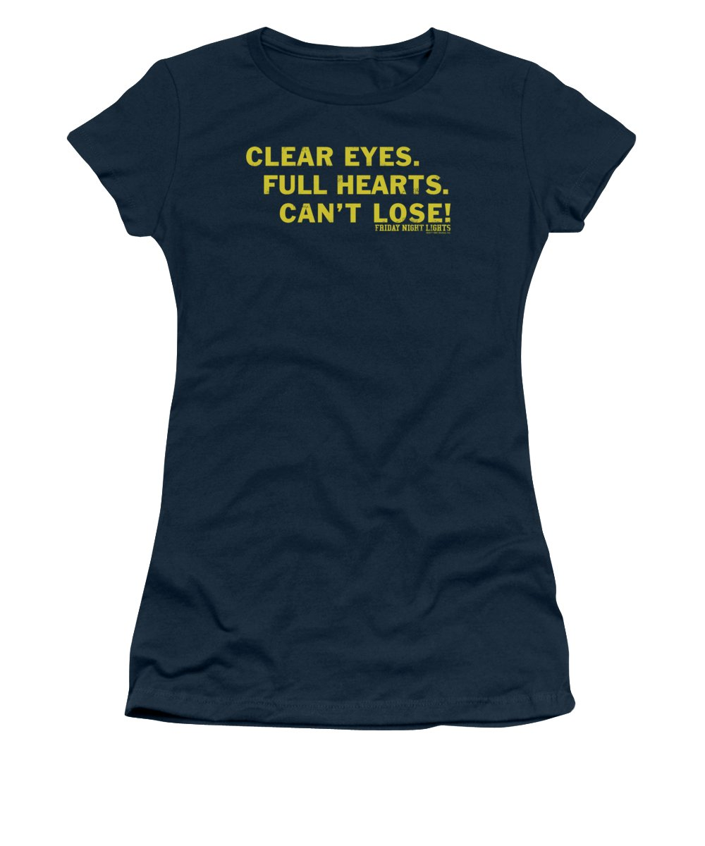 Friday Night Lights Women's T-Shirt featuring the digital art Friday Night Lights - Clear Eyes by Brand A