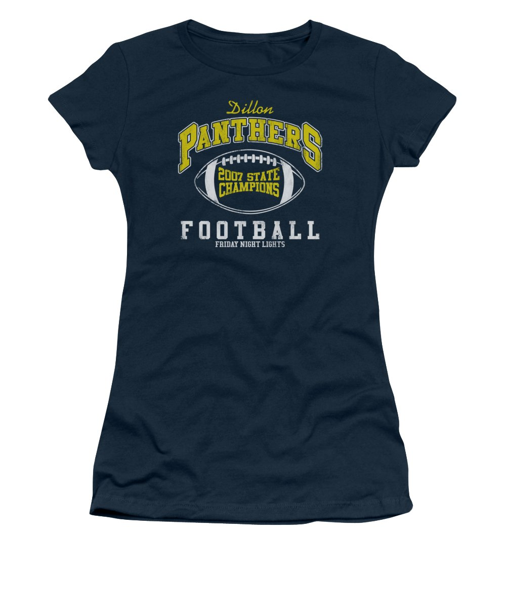 Friday Night Lights Women's T-Shirt featuring the digital art Friday Night Lights - State Champs by Brand A