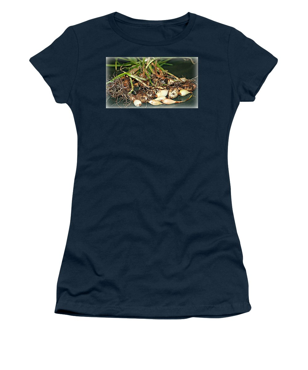 Macro Women's T-Shirt featuring the photograph From The Earth by Barbara S Nickerson