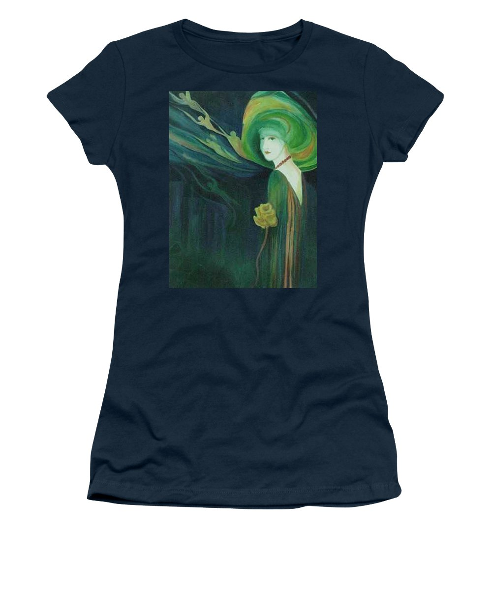 Women Women's T-Shirt featuring the painting My Haunted Past by Carolyn LeGrand