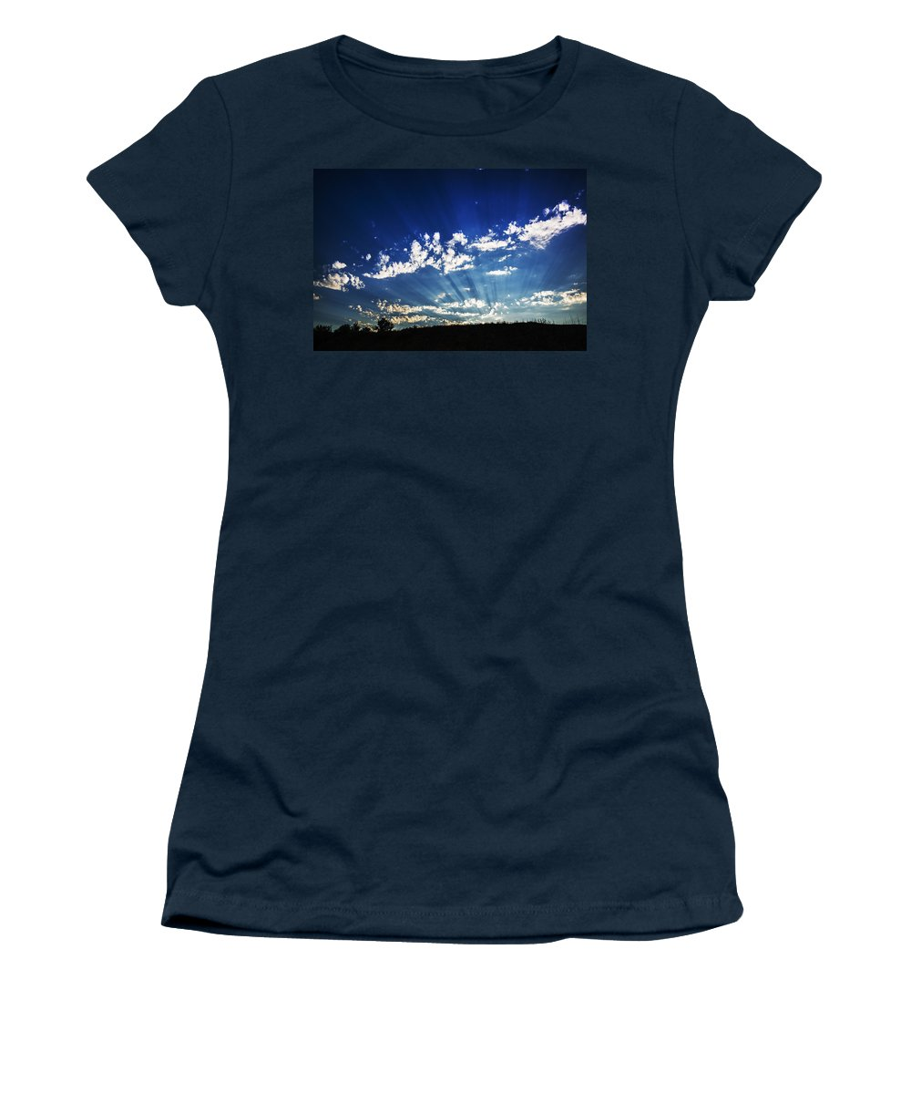 Gods Rays Women's T-Shirt featuring the photograph Gods Rays by Vishwanath Bhat