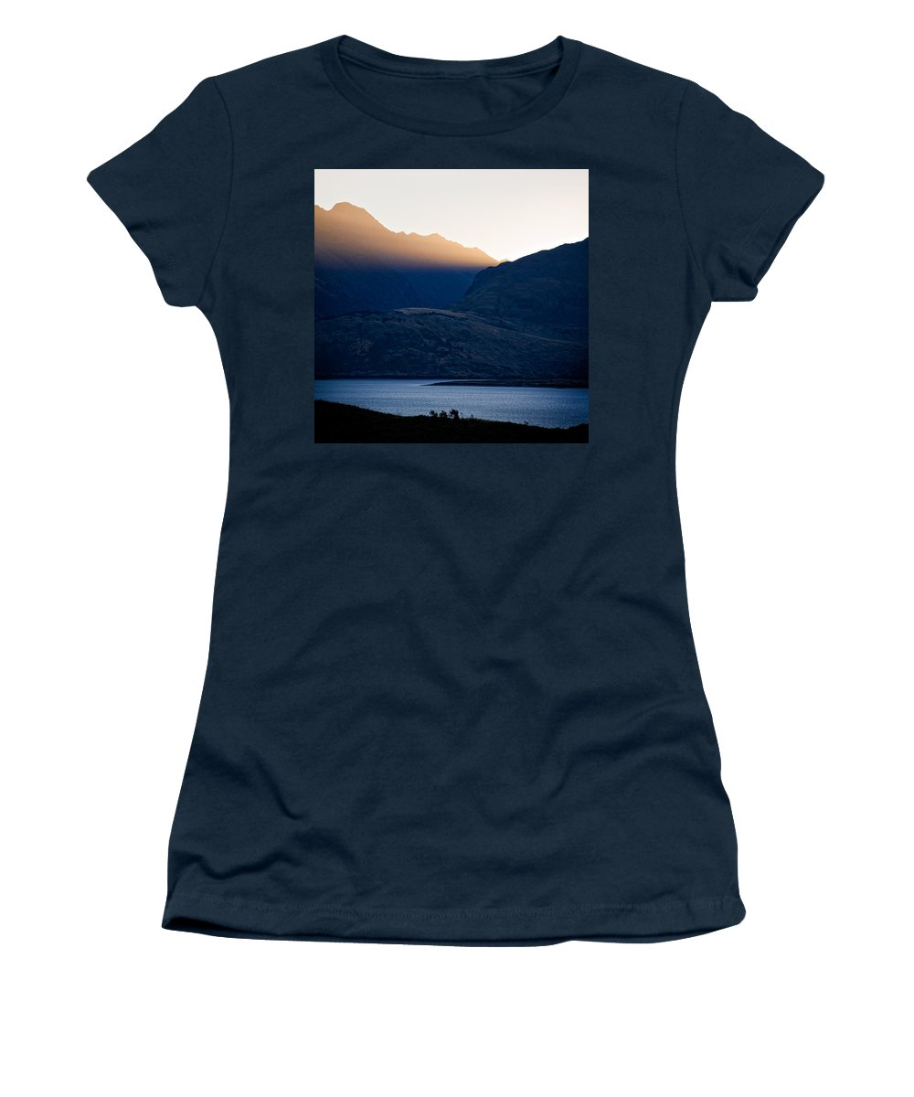 New Zealand Women's T-Shirt (Athletic Fit) featuring the photograph Golden Rays by Dave Bowman