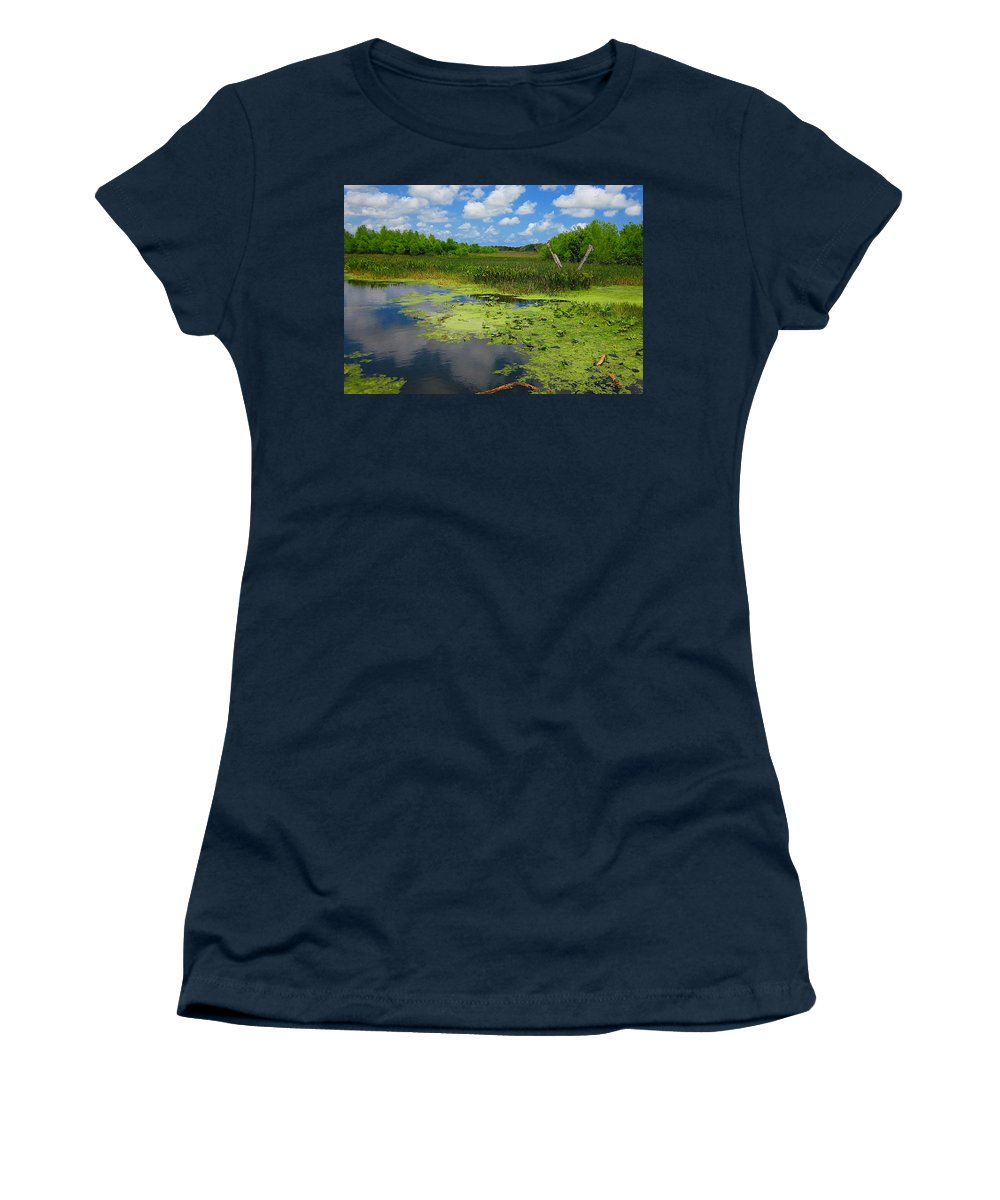 Green Cay Nature Preserves Women's T-Shirt (Athletic Fit) featuring the photograph Green Cay Nature Preserve Beauty by MTBobbins Photography