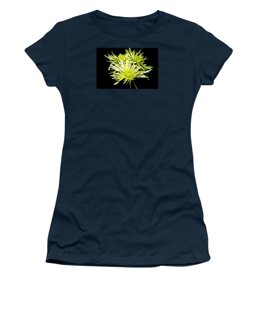 Flowers Women's T-Shirt featuring the photograph Green Spider Mums by Diana Mary Sharpton