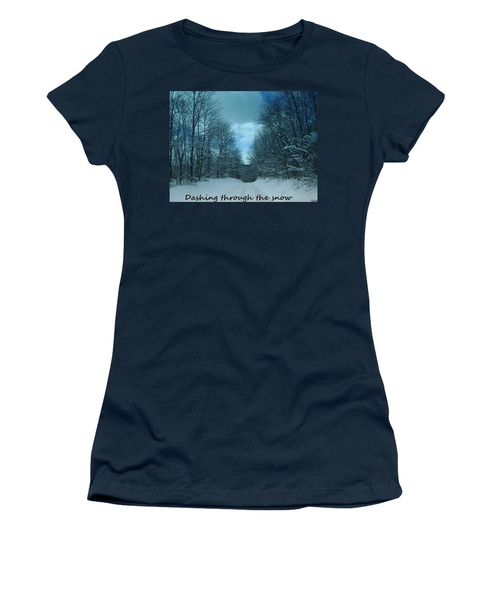 Christmas Cards Women's T-Shirt featuring the photograph Greeting Card-4 by R A W M