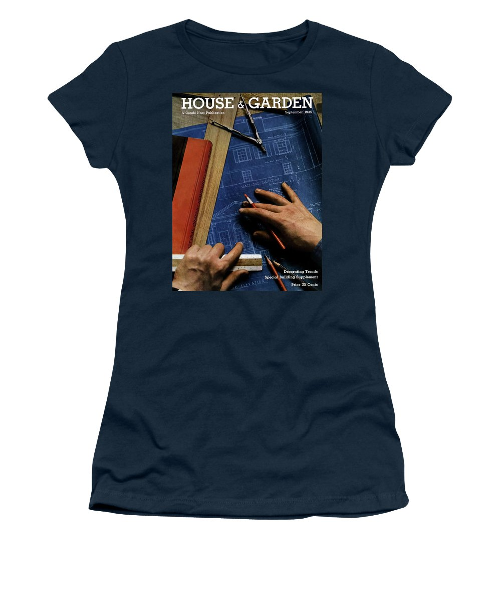 House And Garden Women's T-Shirt featuring the photograph House And Garden Cover Of A Person by Anton Bruehl