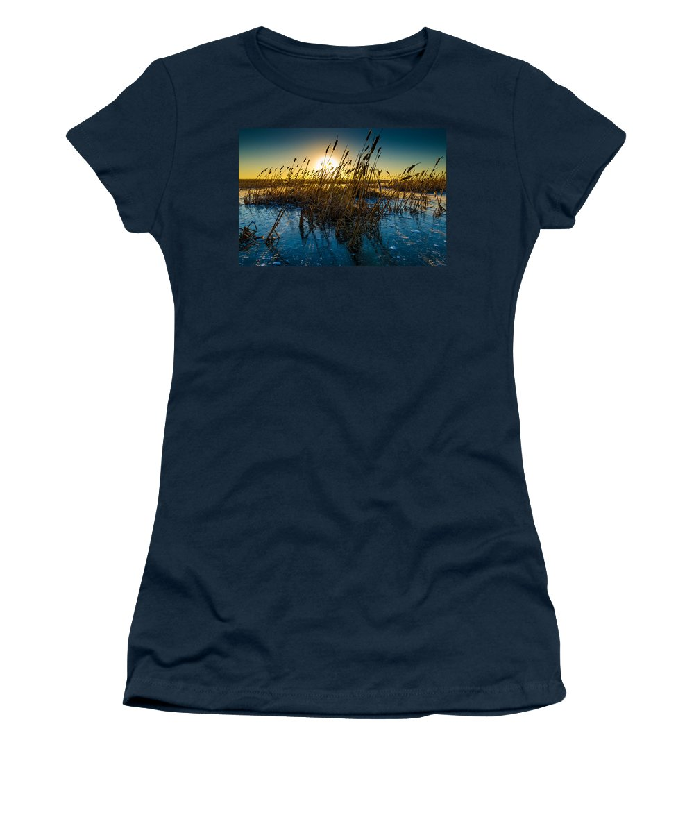 Ice Women's T-Shirt featuring the photograph Ice Ponds by Nikolai Martusheff