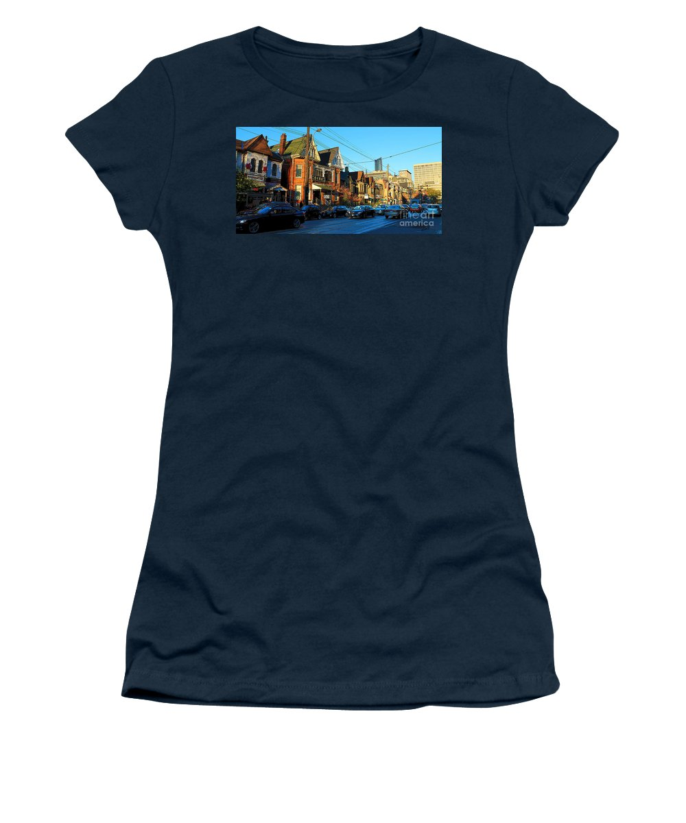 Art Gallery Women's T-Shirt featuring the photograph In Front Of The Ago At Dusk by Nina Silver