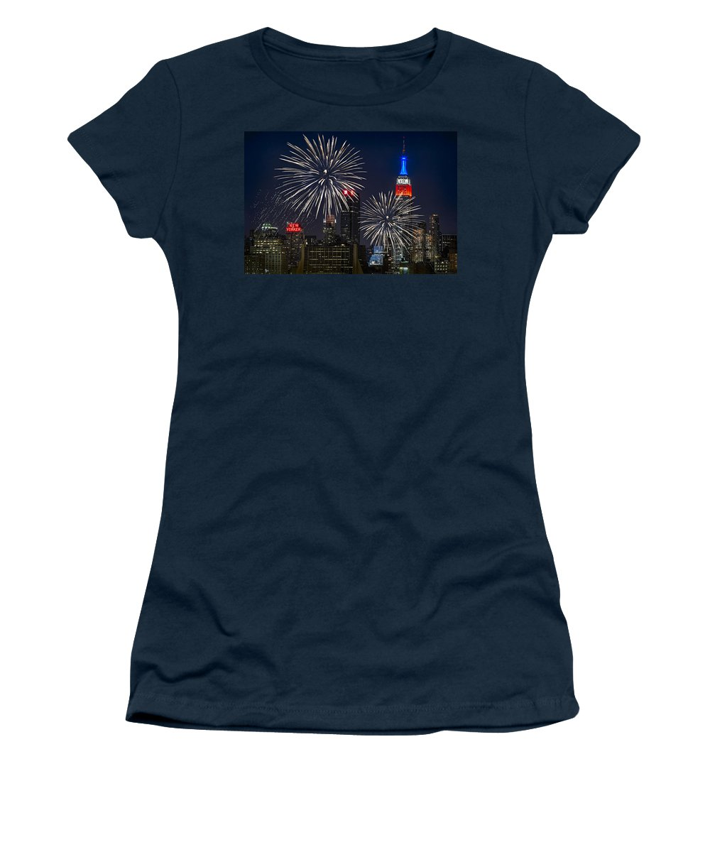 4th Of July Women's T-Shirt featuring the photograph Independence Day by Eduard Moldoveanu