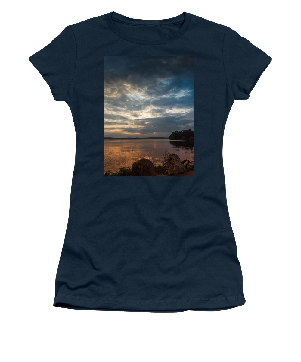 Clouds Women's T-Shirt featuring the photograph Into The West by Guy Whiteley