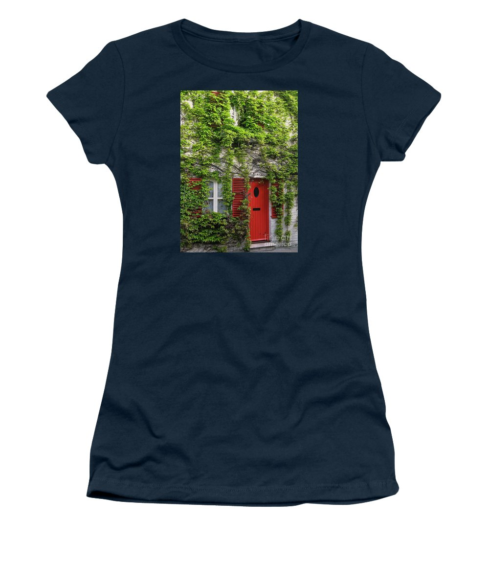 Ivy Women's T-Shirt featuring the photograph Ivy Cottage by Ann Horn