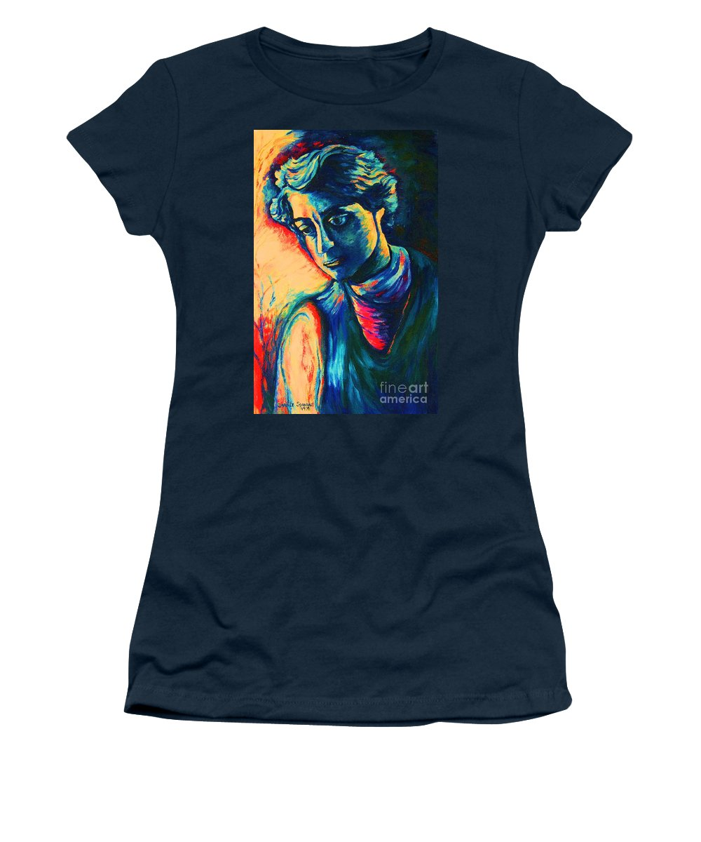Joseph From The Bible Women's T-Shirt featuring the painting Joseph The Dreamer by Carole Spandau