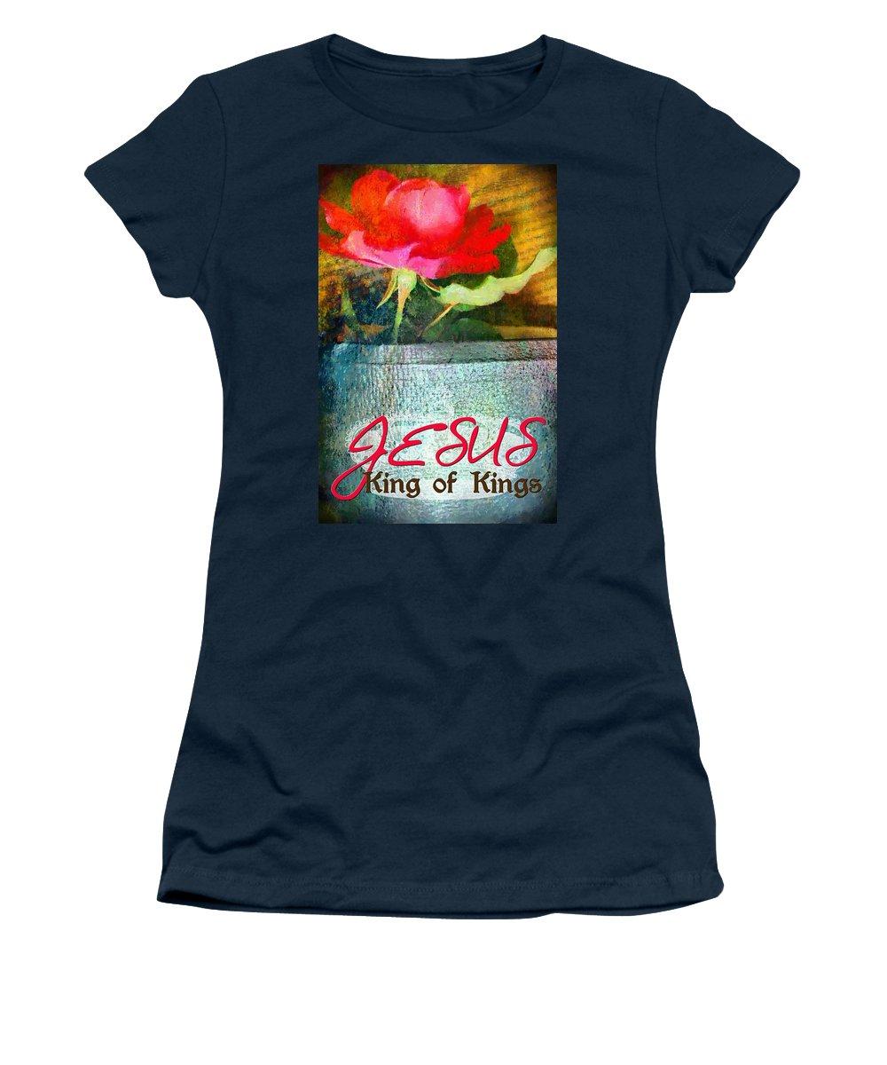 Jesus Women's T-Shirt featuring the digital art King Of Kings by Michelle Greene Wheeler