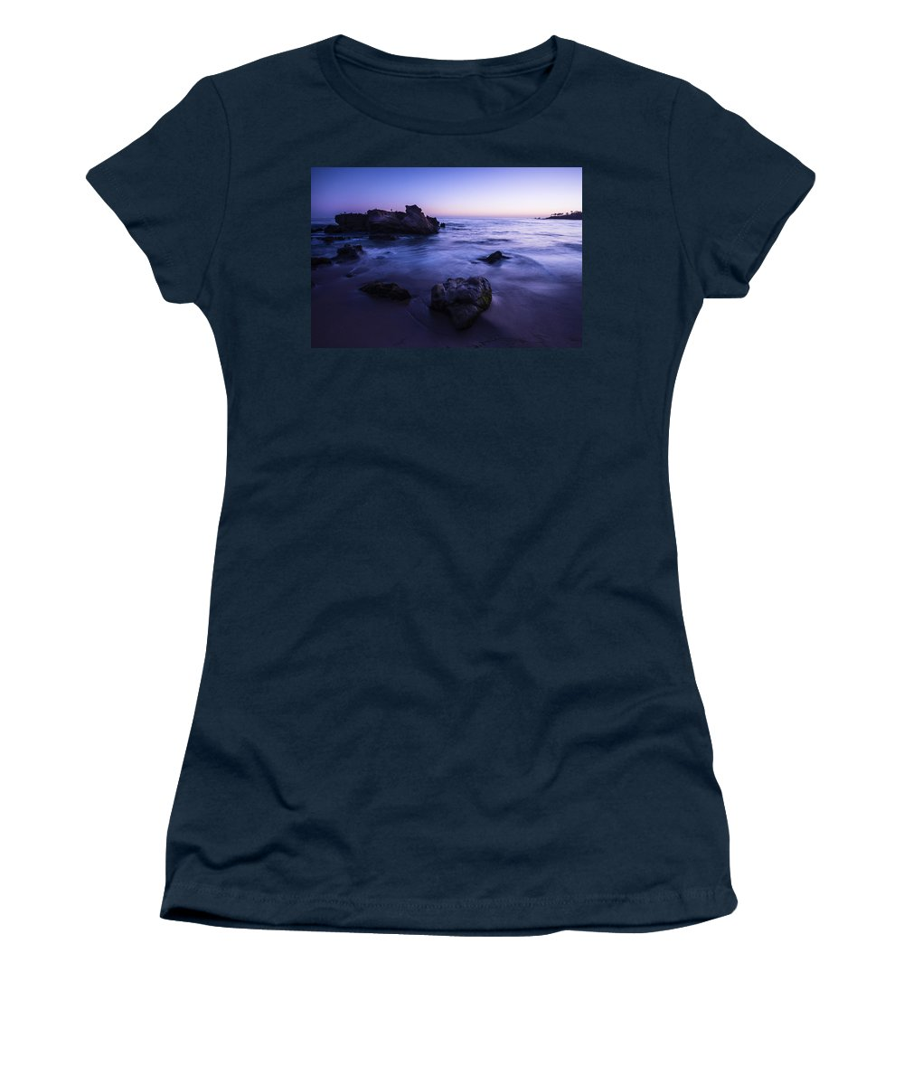 Laguna Beach Women's T-Shirt featuring the photograph Laguna Beach Sunset In Ca by Vishwanath Bhat