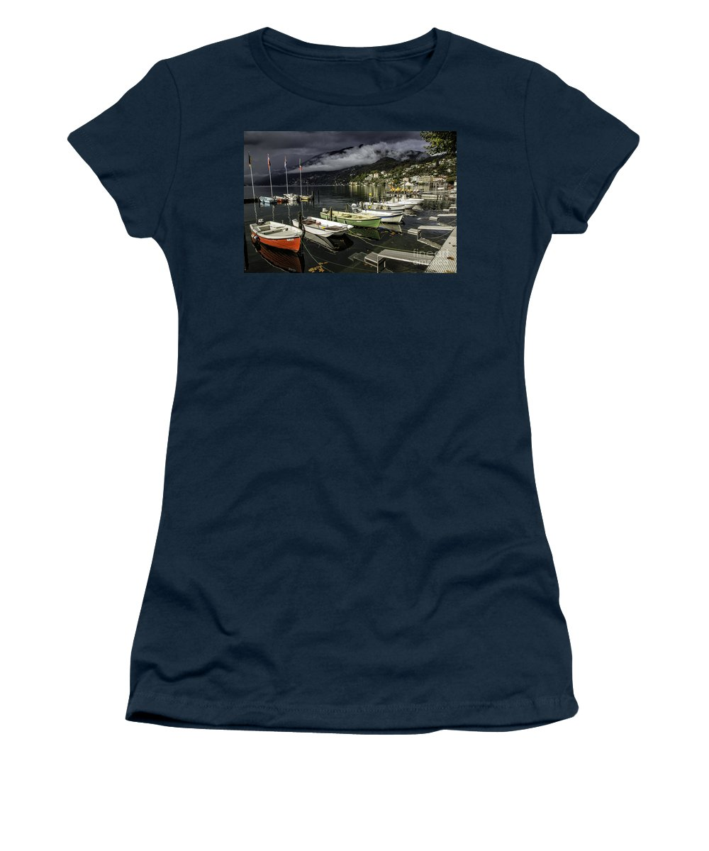 Building Women's T-Shirt (Athletic Fit) featuring the photograph Lake Maggiore Ascona 1 by Timothy Hacker