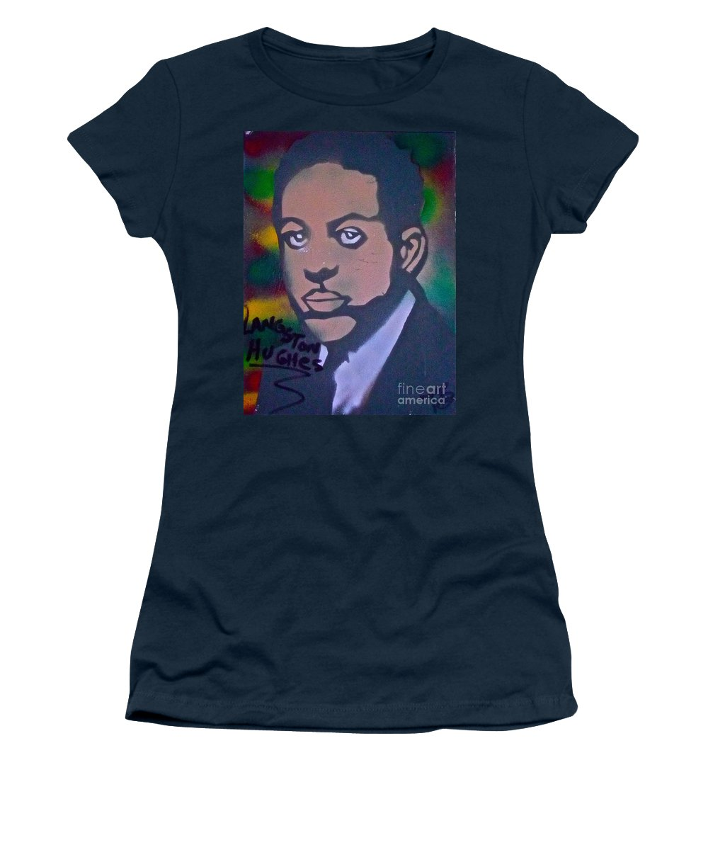 Langston Hughes Women's T-Shirt featuring the painting Langston Hughes 2 by Tony B Conscious
