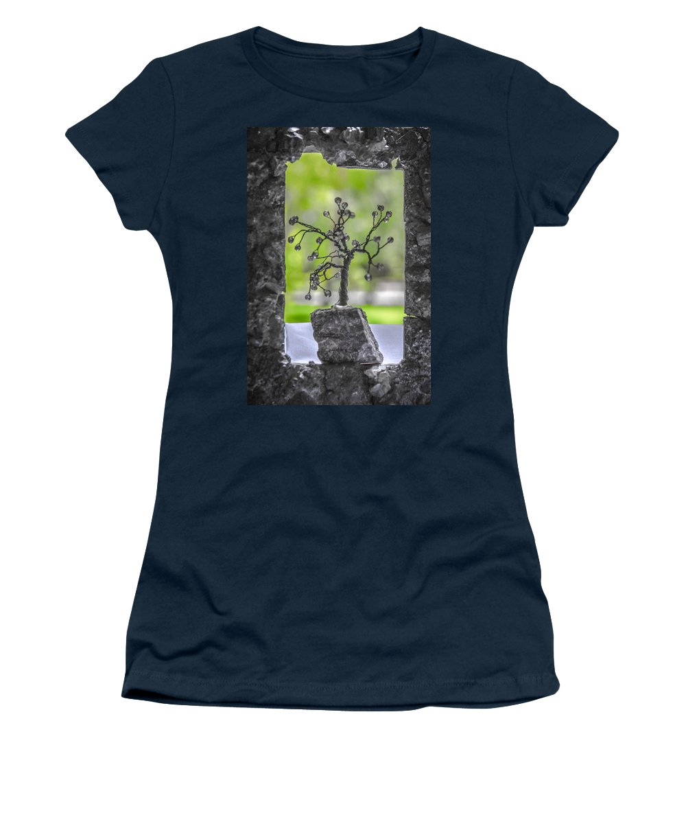 Unusual Women's T-Shirt featuring the photograph Little Pearl Tree II by Sotiris Filippou