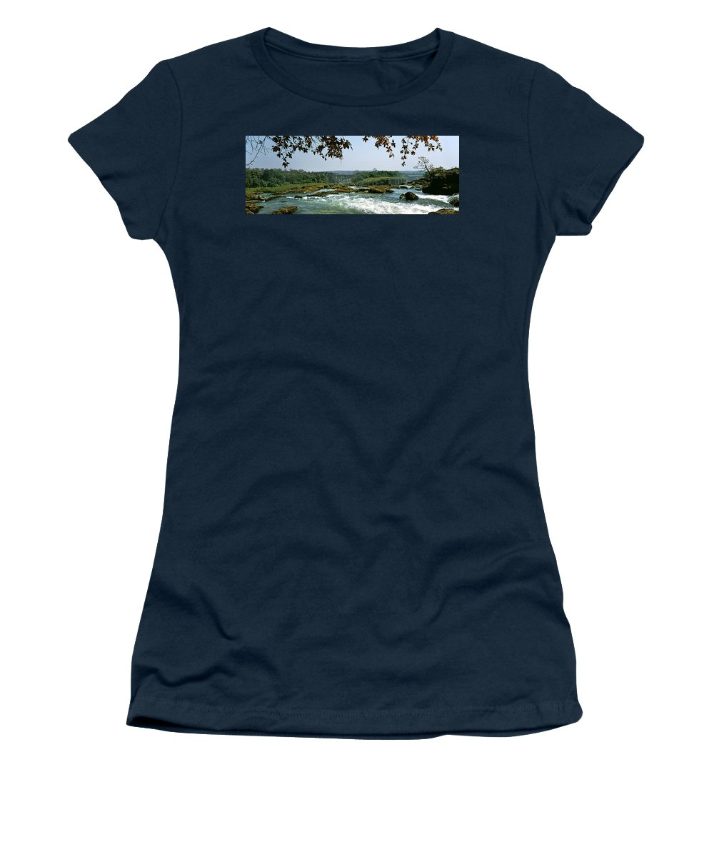 Photography Women's T-Shirt featuring the photograph Looking Over The Top Of The Victoria by Panoramic Images